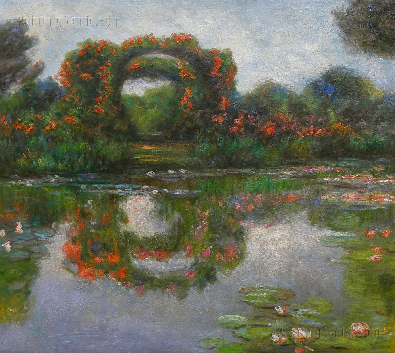 rose flowered arches at giverny claude monet paintings. Black Bedroom Furniture Sets. Home Design Ideas