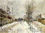 The Boulevard de Pontoise at Argenteuil, Snow Effect