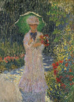 Camille with Green Parasol