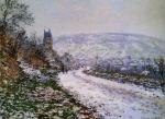 Entering the Village of Vetheuil in Winter