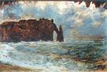 Etretat, la falaise d'Aval avec la Porte et l'Aiguille