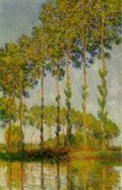 Poplars along the River Epte, Autumn