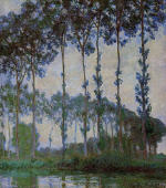 Poplars on the Banks of the River Epte at Dusk 1891