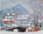 Sandviken Village in the Snow