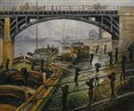 Unloading Charcoal. Argenteuil (Coal Dockers)