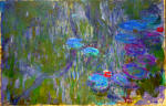 Water Lilies, Reflections of Willow 2