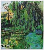 Weeping Willow and Water-Lily Pond 1916