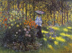 Woman with a Parasol in the Garden at Argenteuil