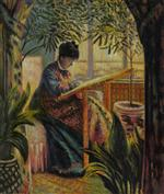 The Woman at Work (Camille Monet Embroidering)