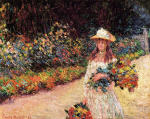 Young Girl in the Garden at Giverny