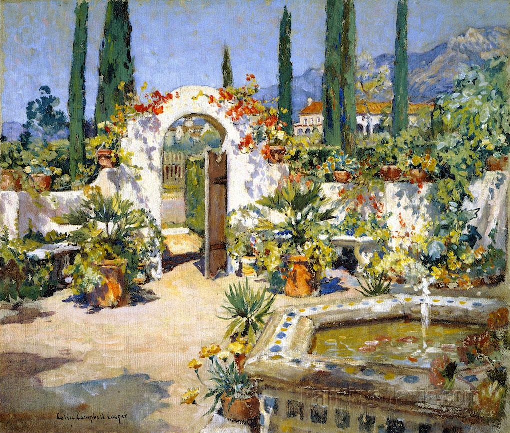 A Santa Barbara Courtyard