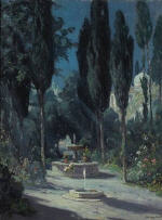 A Garden in Granada in the Moonlight