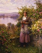 Julia in the Corner of the Garden