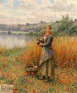 Madeleine in a Wheat Field