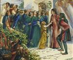 Beatrice Meeting Dante at a Marriage Feast, Denies him her Salutation