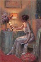 A Lady in Her Boudoir