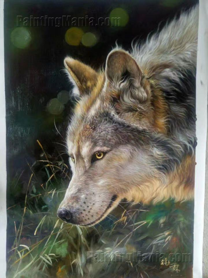 The Wolf Seeking Food