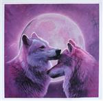Wolf Sisters (Wolves in Purple)