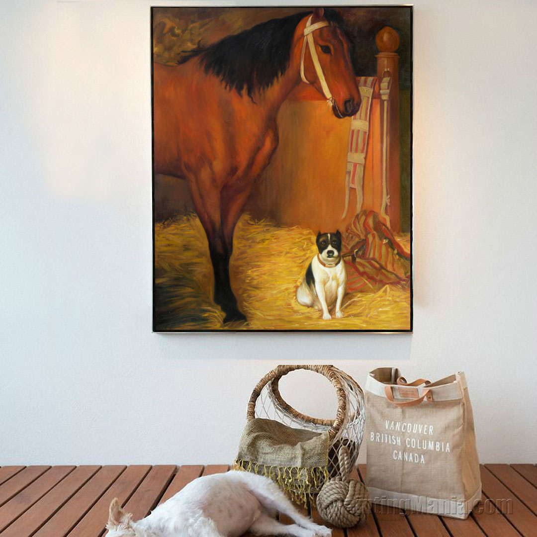 At the Stables, Horse and Dog