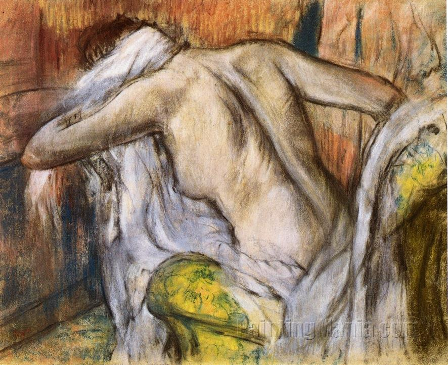 After the Bath, Woman Drying Herself 1888-1892