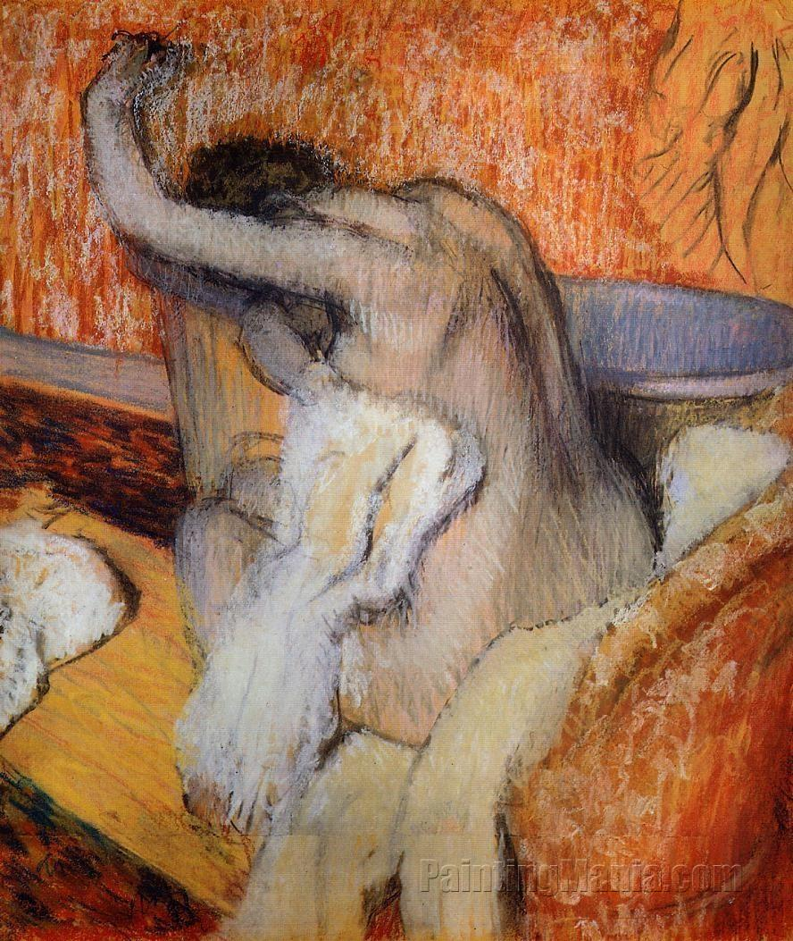 After the Bath, Woman Drying Herself 1895-1900