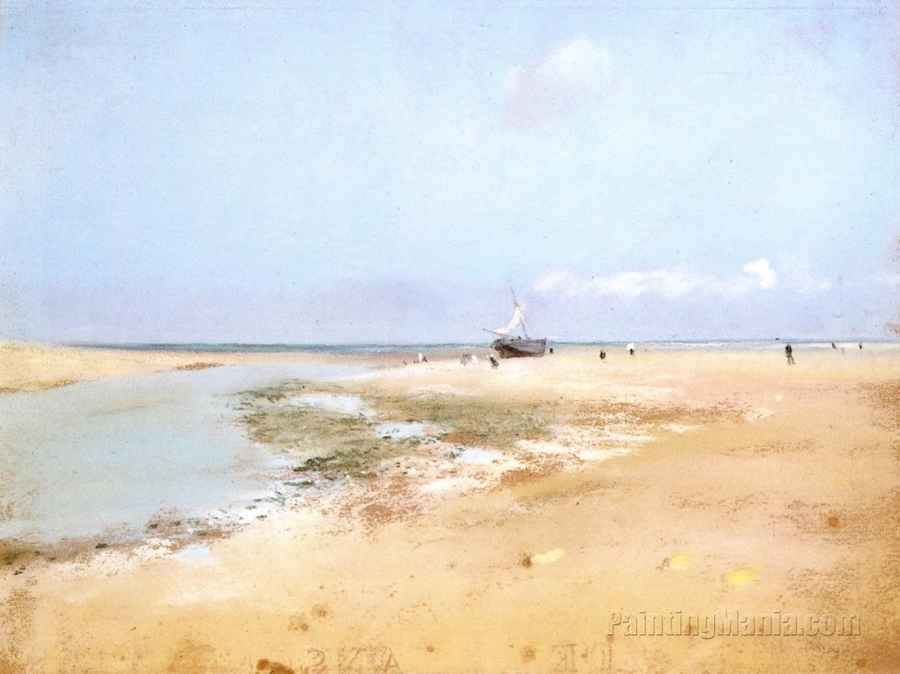 Beach at Low Tide (Mouth of the River)