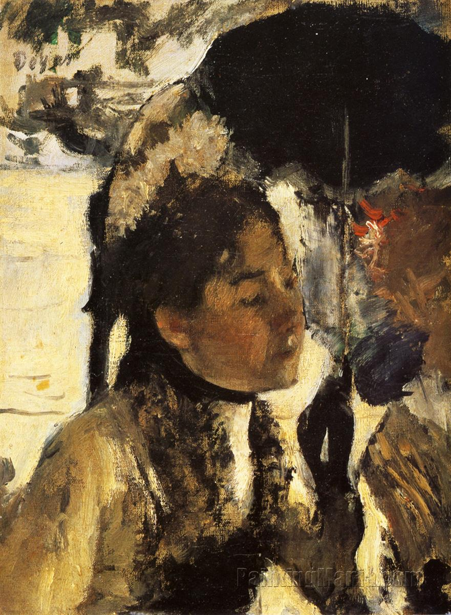 In the Tuileries, Woman with a Parasol