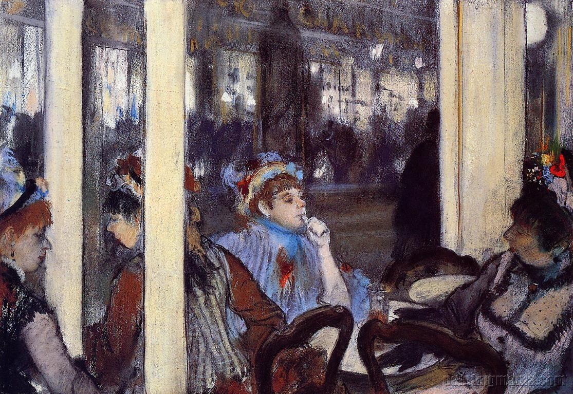 Women on a Cafe Terrace in the Evening