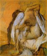 After the Bath. Woman Drying Herself 1895-1905