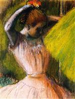 Ballet Corps Member Fixing Her Hair