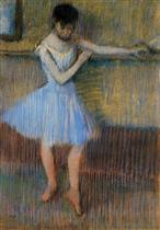 Dancer in Blue at the Barre