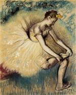 Dancer Putting on Her Slipper