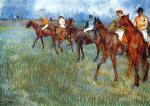 Jockeys in the Rain