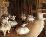 The Rehearsal of the Ballet on Stage
