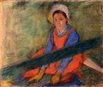 Woman Seated on a Bench