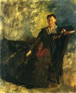Woman Seated on a Canape