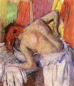 Woman Washing Her Back