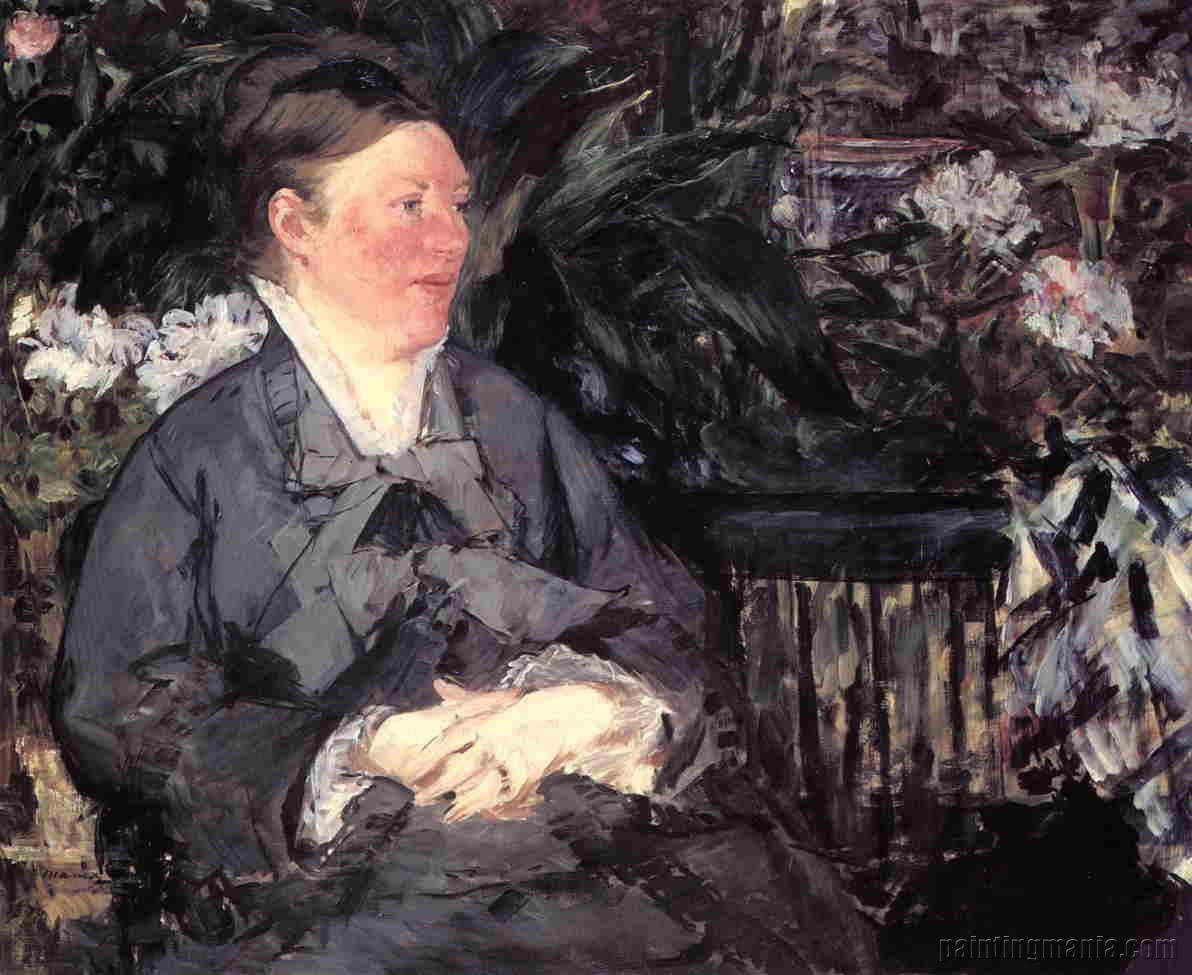 Madame Manet in the Conservatory
