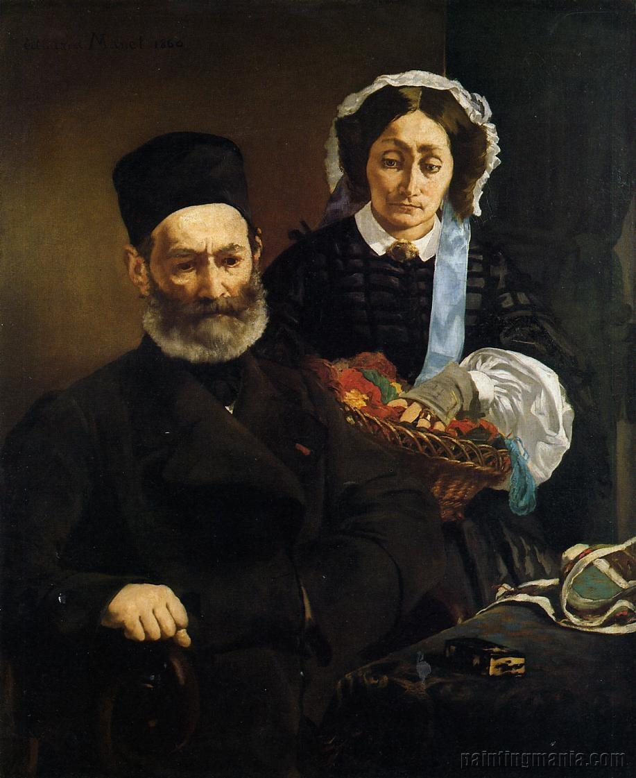 Portrait of Monsieur and Madame Manet (The Artist's Parents)