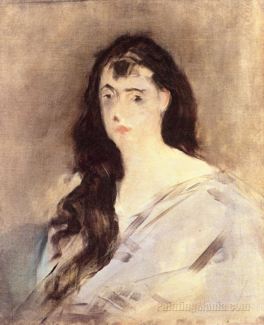 Young Woman with Disheveled Hair