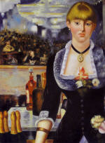 A Bar at the Folies-Bergeres: DETAIL of barmaid