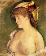 The Blond with Bare Breasts