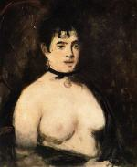 The Brunette with Bare Breasts