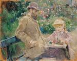 Eugene Manet 1833-92 with His Daughter at Bougival