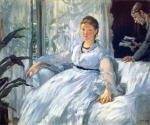 Madame Manet and Leon