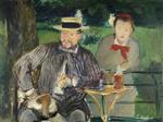 Portrait d'Ernest Hoschede et sa fille Marthe