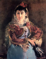 Portrait of Emilie Ambre in the role of Carmen