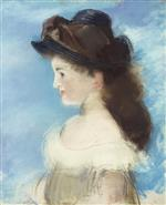 Portrait of Mademoiselle Hecht Wearing a Hat