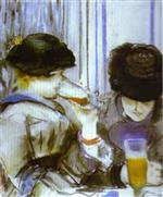 Two Women Drinking Bocks