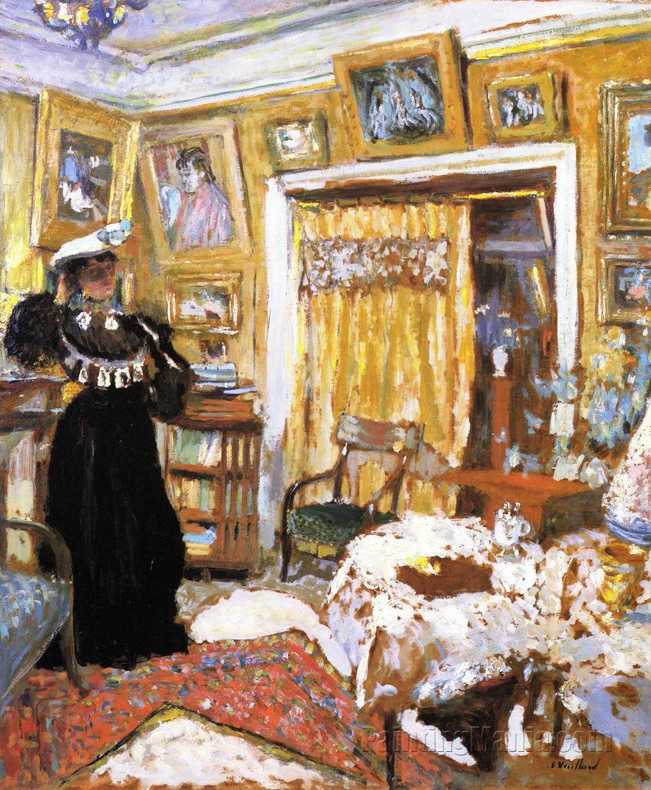 Lucy hessel in the small salon rue de rivoli edouard vuillard paintings - Salon de the rue de rivoli ...